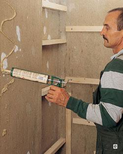 панель пвх способ приклеивания к стене делать